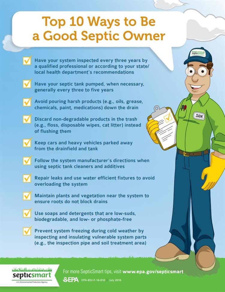 Top 10 Ways to Be a Good Septic Owner